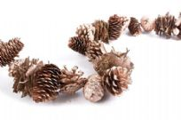 Gold Christmas Pinecone Garland
